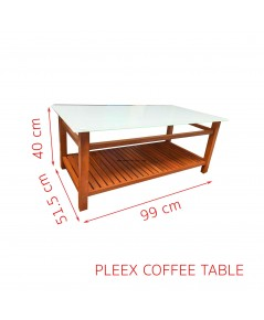PLEEX COFFEE TABLE 99*51.5*40 CM