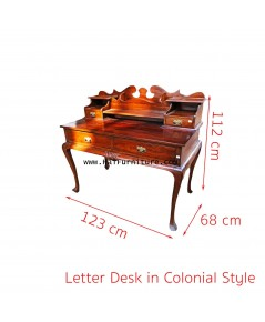 Letter Desk in colonial style 123*68*81-112 cm
