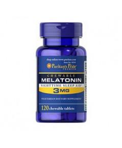 Puritan\'s Pride Chewable Melatonin 3 mg.ขนาด 120 เม็ด **หมดค่ะ **