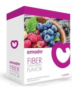 Amado Fiber อมาโด้ ไฟเบอร์ (ม่วง) ดีสูตรเข้มข้น ทานแค่ 3 วันครั้ง คู่กับ AmadoS