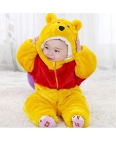 pre order ชุดหมีเด็ก ชุดสัตว์เด็กเล็ก ชุดนอนหมีเด็ก หนา3ชั้น ขนาดเด็กอายุ 1-1.5 ขวบ(สูง73-80cm)