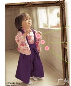 พร้อมส่ง ชุดกิโมโน ชุดญี่ปุ่นเด็กผู้หญิง size80 ขนาด 12-18 เดือน