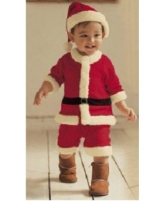 พร้อมส่ง ชุดซานตาครอส (สินค้าจริงเป็นกำมะหยี่ดี) ขนาดเด็กสูง 120-130 cm พร้อม หมวก เข็มขัด (ไม่รวมรอ