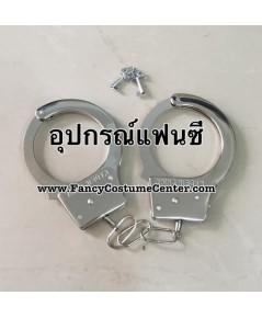 พร้อมส่ง กุญแจมือแฟนซี วัสดุโลหะ (ขายเฉพาะลูกค้าที่ซื้อชุดแฟนซีตำรวจกับทางร้านค่ะ)