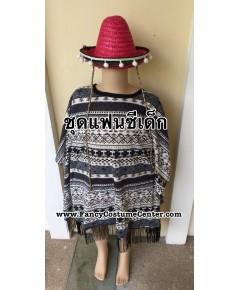พร้อมส่ง ชุดเม็กซิกัน Mexican Freesize ใส่ได้ทุกวัย พร้อม หมวก