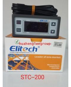 ตัวควบคุมอุณหภูมิ (เครื่องควบคุมอุณหภูมิ) ตู้เย็น ตู้แช่ ระบบชิลเลอร์ และห้องเย็น STC-200 \'ELITECH