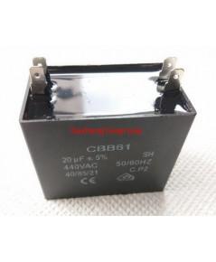แคปพัดลม 20uF 440V ชนิดเหลี่ยม (รันนิ่ง แคป) ใช้สำหรับมอเตอร์พัดลมทุกชนิด