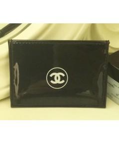 Chanel Black Leather Pass-case ซองใส่บัตรและตั๋วรถไฟฟ้า 3ช่อง