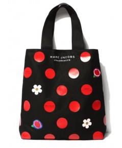 Marc Jacobs Red Polka Dot Tote กระเป๋าผ้าดำสกรีนลาย