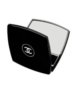 Chanel Double Mirror กระจกอะคริลิกสีดำพับได้สำหรับพกพา