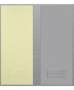 ประตูพีวีซี หนา 1.5 นิ้ว thai door express สีเทา สีครีม บานช่องลม