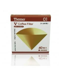 กระดาษกรองกาแฟ Tiamo 1-2 ถ้วย รูเดี่ยว 1610-461