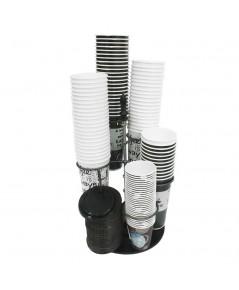 ที่ตั้งวางแก้วกาแฟปรับได้ มีวงใส่แก้ว 5 วง+ฐานวางฝาแก้ว รุ่นTwist 1619-035