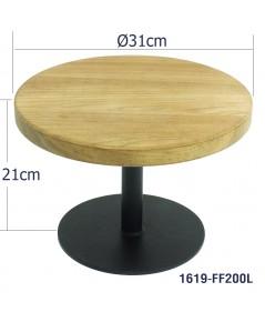 ที่วางเค้กฐานเหล็กและแผ่นไม้สัก 31 ซม. สูง  21 ซม.  1619-FF200L