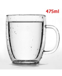 แก้วกาแฟ 2 ชั้น มีหูจับ  475cc. 1610-541