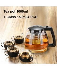 ชุดกาชงชา 1000 ml. พร้อมแก้วชา 4 ใบ  1610-573