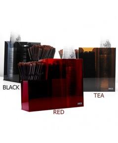กล่องใส่แก้วกาแฟพลาสติก และ เครืองดื่มพลาสติก อะคริลิค 2 ช่อง ครึ่ง 1610-545