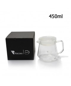โถดริปแก้ว RACCEA 6 เหลี่ยม 450 ml. 1610-591