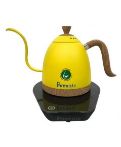 กาต้มน้ำคอห่าน Brewista ต้มตามอุหณภูมิที่กำหนด 600 ml. สีเหลือง 1614-174-C09