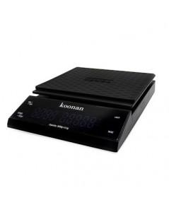 ตาชั่ง KOONAN ดิจิตอล LED ทัชกรีน ชงกาแฟดริป ชั่งได้ 0.5g-3000g สีดำ 0609-103-C01