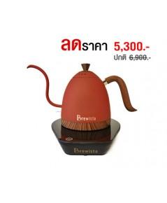กาต้มน้ำคอห่าน Brewista ต้มตามอุหณภูมิที่กำหนด 600 ml. สีส้ม 1614-174-C10