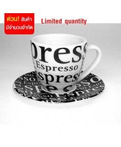 แก้วกาแฟเอสเปรสโซ่ แพ็คละ 4 ใบ 1618-024