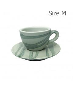 แก้วกาแฟ 150 CC. (Size M) ถ้วยกาแฟ ลาย X1 1618-057