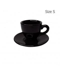 ถ้วยเอสเปรสโซ่ 70 CC. (Size S)ถ้วยกาแฟลาย Glossy Black 1618-054