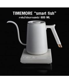 กาต้มน้ำร้อนกาแฟดริป TIMEMORE Smart Fish 600ML สีขาว 1614-218-C05
