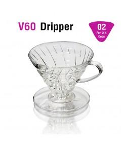 ถ้วยกรองกาแฟ AS V60 ดริปเปอร์ ทรงกรวย รูเดี่ยว 2-4 คัพ 1610-697