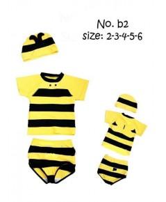 ชุดว่ายน้ำเด็กรูปผึ้งพร้อมหมวก ใส่แล้วเหมือนผึ้งน้อยๆน่ารักมากค่ะ