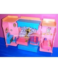 โมเดลชุดห้องนอน ทำจากพลาสติกเกรดเอ มีเฟอรนิเจอร์ เช่น โต๊ะ เก้าอี้ เตียงนอน โต๊ะเครื่องแป้ง ...
