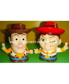 โมเดล Toy story เป็นกระปุกออมสินในตัว งานลิขสิทธิ์ ขนาดประมาณ  สูง 5 นิ้ว กว้าง 4 นิ้ว (ขายคู่ค่ะ)