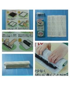 เสื่อห่อข้าวปั้นทำซูชิ สินค้าใหม่ จากญี่ปุ่่น ทำง่ายมีวิธีทำบอก ทำจากพลาสติกแกน a ขนาด กว้าง 9*10 นิ