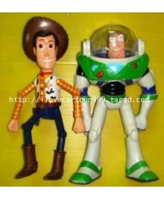 โมเดลจากภาพยนต์เรื่องดัง TOY STORY ขายเป็นชุด วู๊ดดี้ ยกแขน-ขาได้,ถอดหมวกได้,จับนั่ง-ยืนได้,...