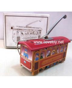 ของเล่นสังกะสี Tintoy รถราง กว้าง 3 x ยาว 8 ซ.ม.