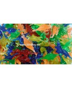 ของเล่นโบราณ ไดโนเสาร์ ยางคละสี ของเล่นชั่งกิโล ถุงละ 500 กรัม