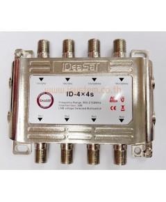 มัลติสวิตช์ Multi switch HDTV IDEASAT รุ่น ID-4x4S เข้า 4 ออก 4