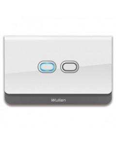 Wulian Smart Wall Switch (Brazilian Type, Two-Gang, LN, 10A)