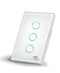 MCOHOME Touch Panel Switch US box White AU 3x5A