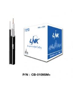 สาย RG6 LINK สำหรับงาน CCTV รุ่น  CB-0109SM+ ชิลล์ 96 ม้วน 500 เมตร มีสลิง