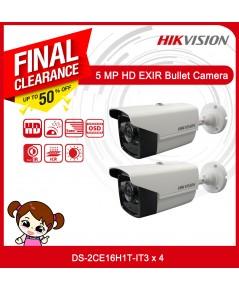ชุดกล้องวงจรปิด HIKVISION Pack 2 5MP  (5MP, IR 40M)