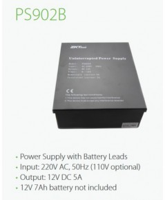 ZKT PS902B PowerSupply with Battery Leads