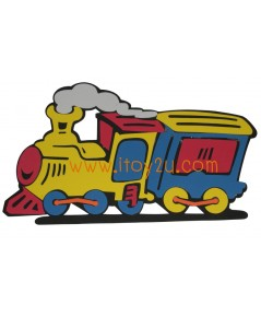 ตุ๊กตาโฟมยางติดผนัง รถไฟ