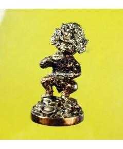 สี่หูห้าตา (รุ่นมหาเฮง) เนื้อสำฤทธิ์ ทองลำอู่  ปี 62 ครูบาคำฝั้น วัดกอโชค