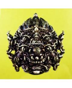 หน้ากากสี่หูห้าตา (รุ่นมหาเฮง) เนื้อทองเทวฤทธิ์ ปี 62 ครูบาคำฝั้น วัดกอโชค