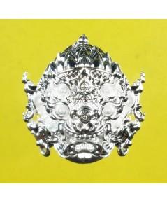 หน้ากากสี่หูห้าตา (รุ่นมหาเฮง) เนื้อสัมฤทธิ์ ชุบเงินจิลเวลรี่ ปี 62 ครูบาคำฝั้น วัดกอโชค
