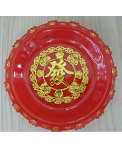 ถาดแดงตัวอักษรจีนขนาด6นิ้ว (รหัส806)