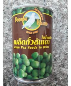 ถั่วลันเตาในน้ำเกลือนกพิราบ Green Pea Seeds in Brine (400g)