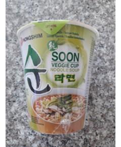 ซุนเวจจี คัพ นู้ดเดิ้ล ซุป Soon Veggie cup noodle soup(67g)